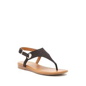 NEW FRANCO SARTO Goldy Embossed Leather Sandal